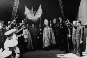 fran 1941 requiem of the late King Alphonso XIII under a canopy and accompanied by the bishop