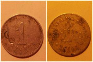 Monedas de la ccopertiva obrera La Defensa. ¿Conocéis alguna referencia de estas?