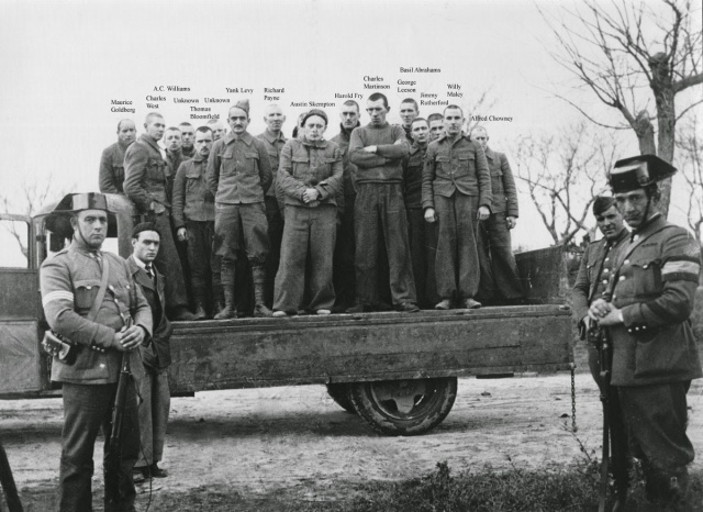 Members British Machine Gun Company captured at Jarama Feb37