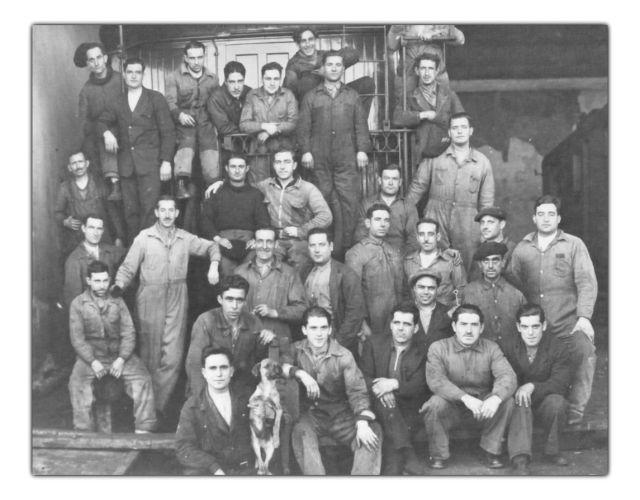 Grupo de trabajadores del ferrocarril de Horna