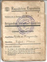 Libreta B.I. primera página